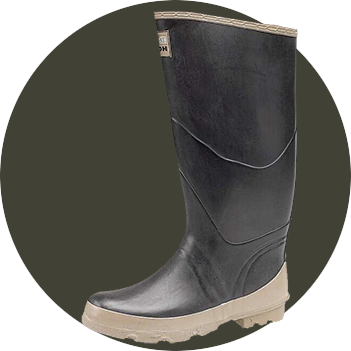 Bullseye Hood Rubber Wellingtons